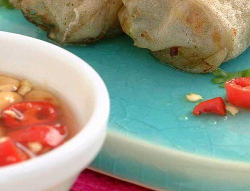 Chili- og peanøttdip