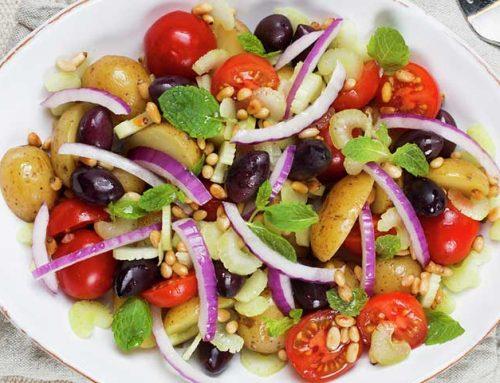 Potet- og tomatbolle