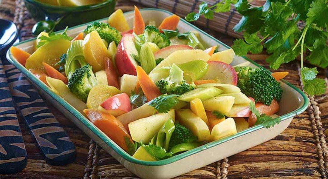 Bakte grønnsaker med asiatisk vri
