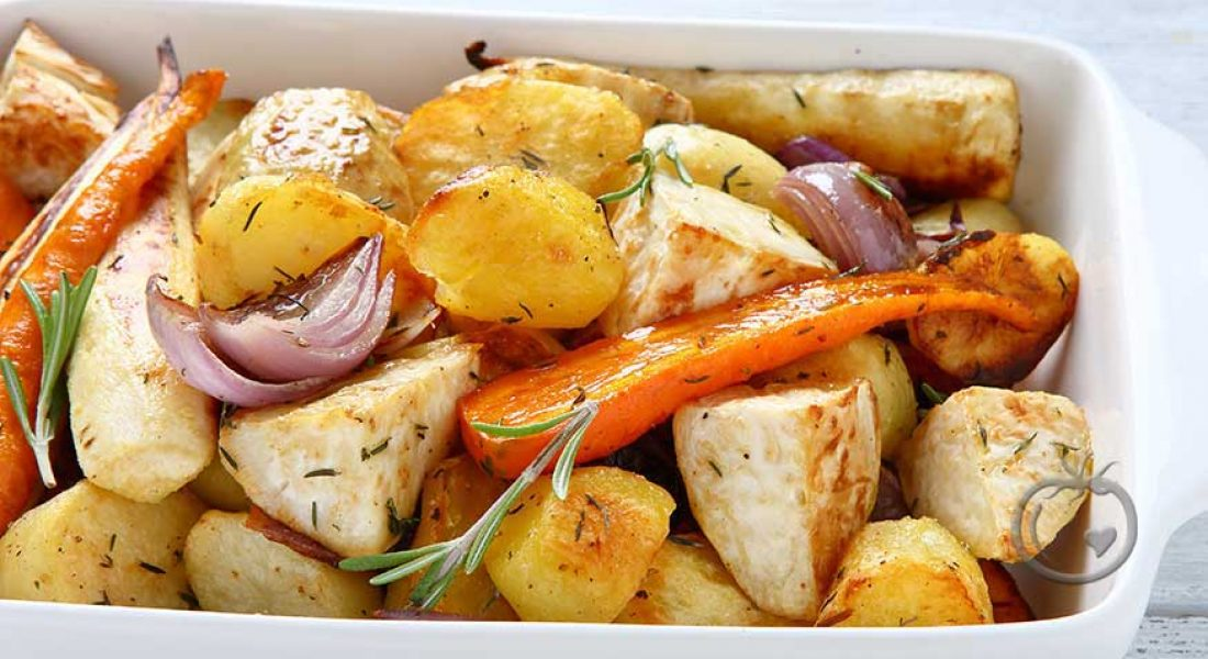 Bakte-grønnsaker-med-timian-