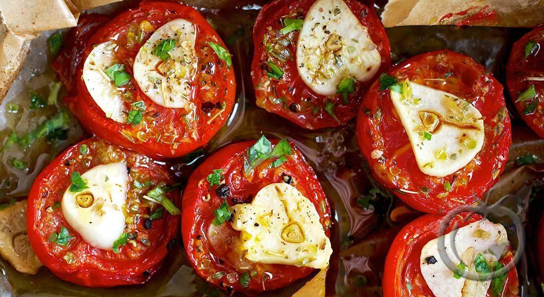 Bakte tomater med hvitløk