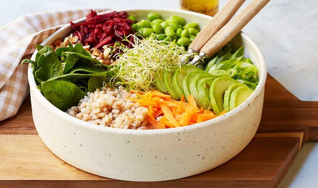 Bete, korn og avokadosalat