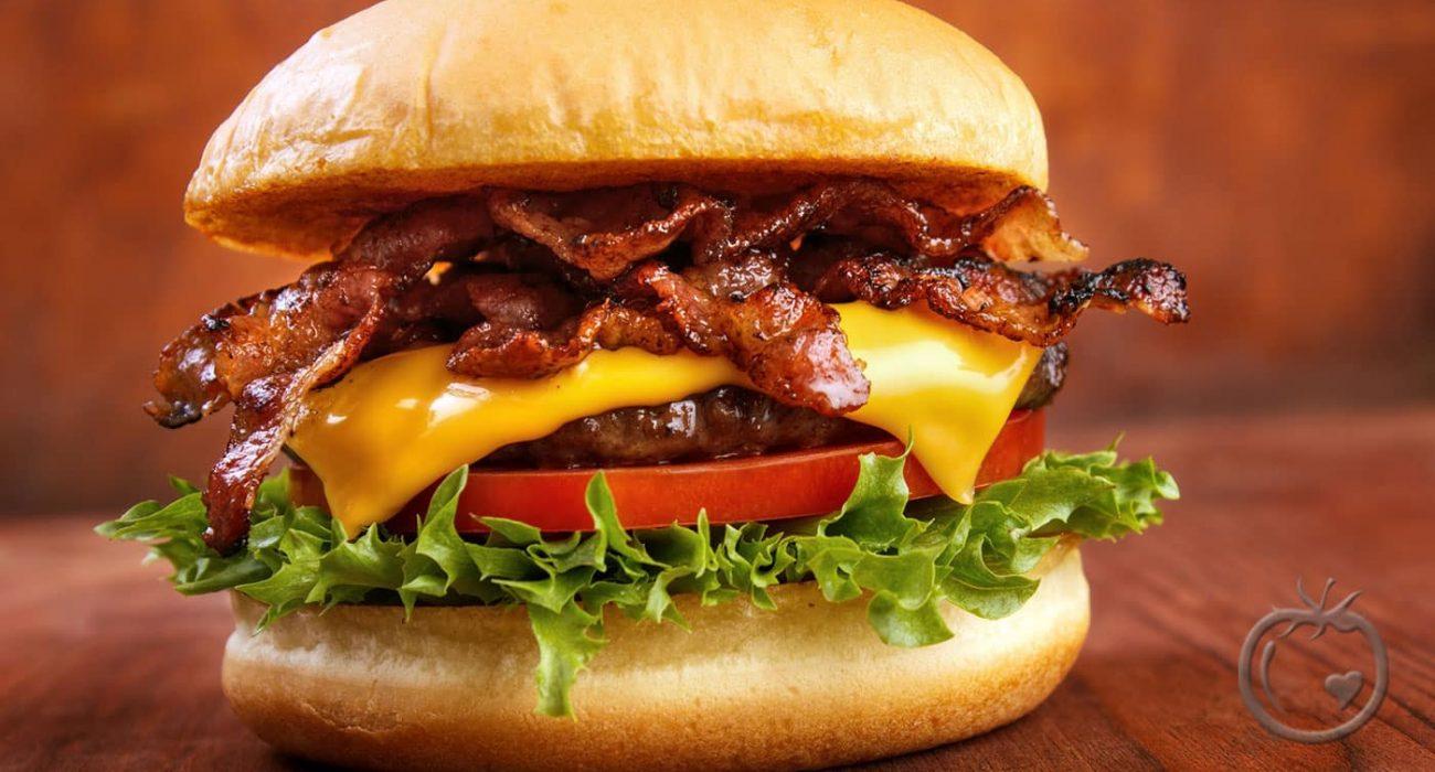 Burger-med-bacon
