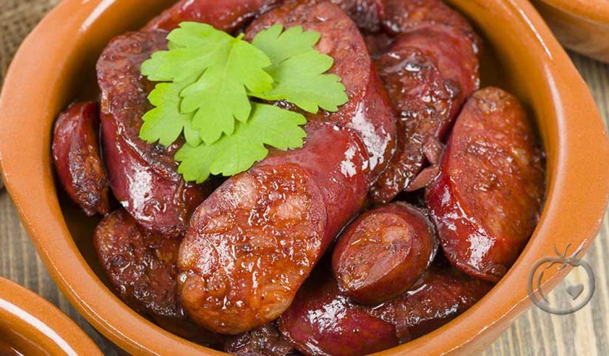 Chorizo i rødvin