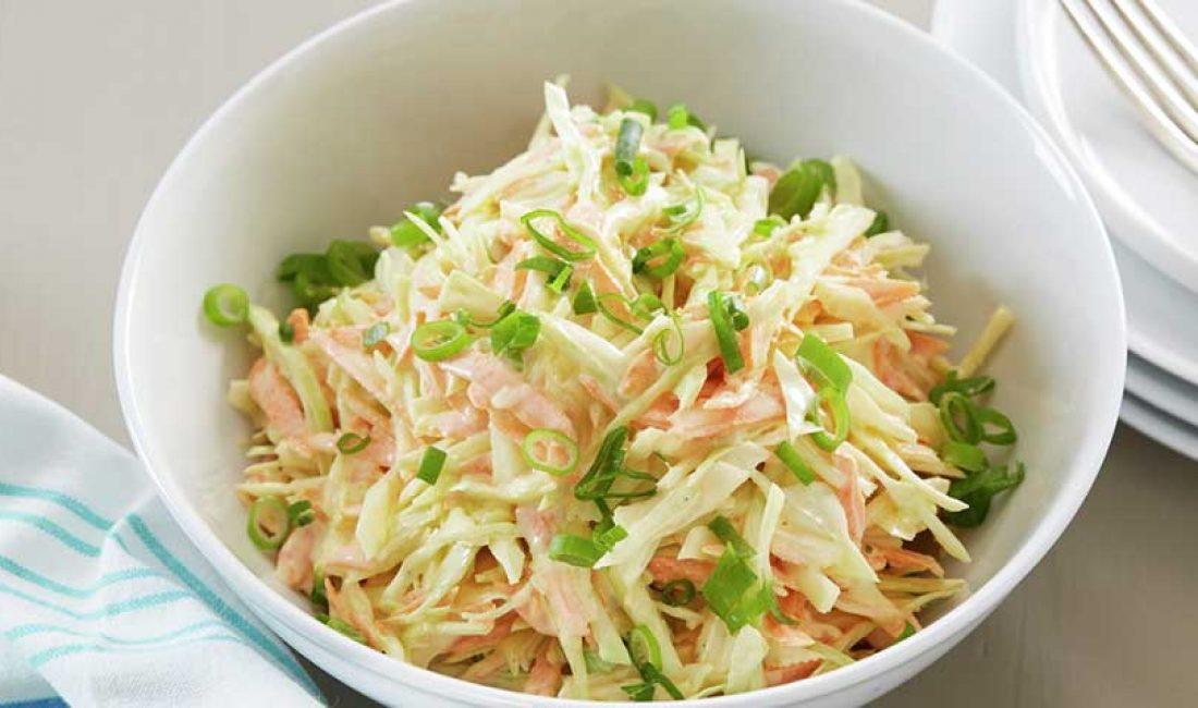 Coleslaw med hvitløk