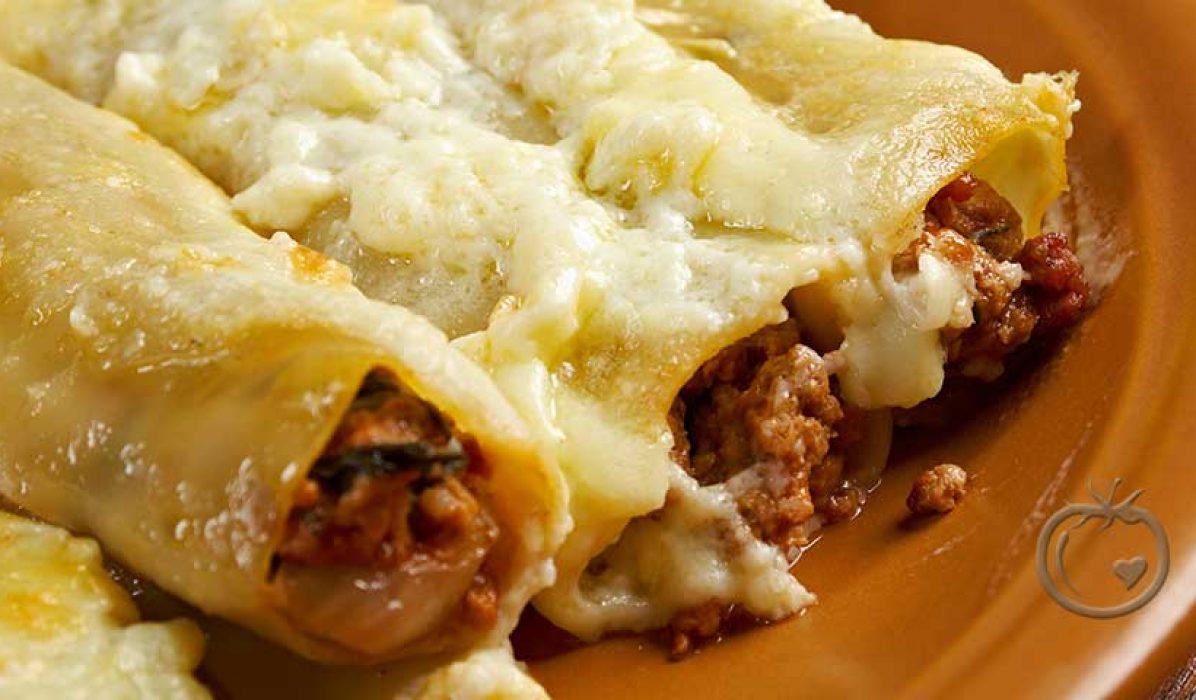 Enchiladas med sterkt fyll