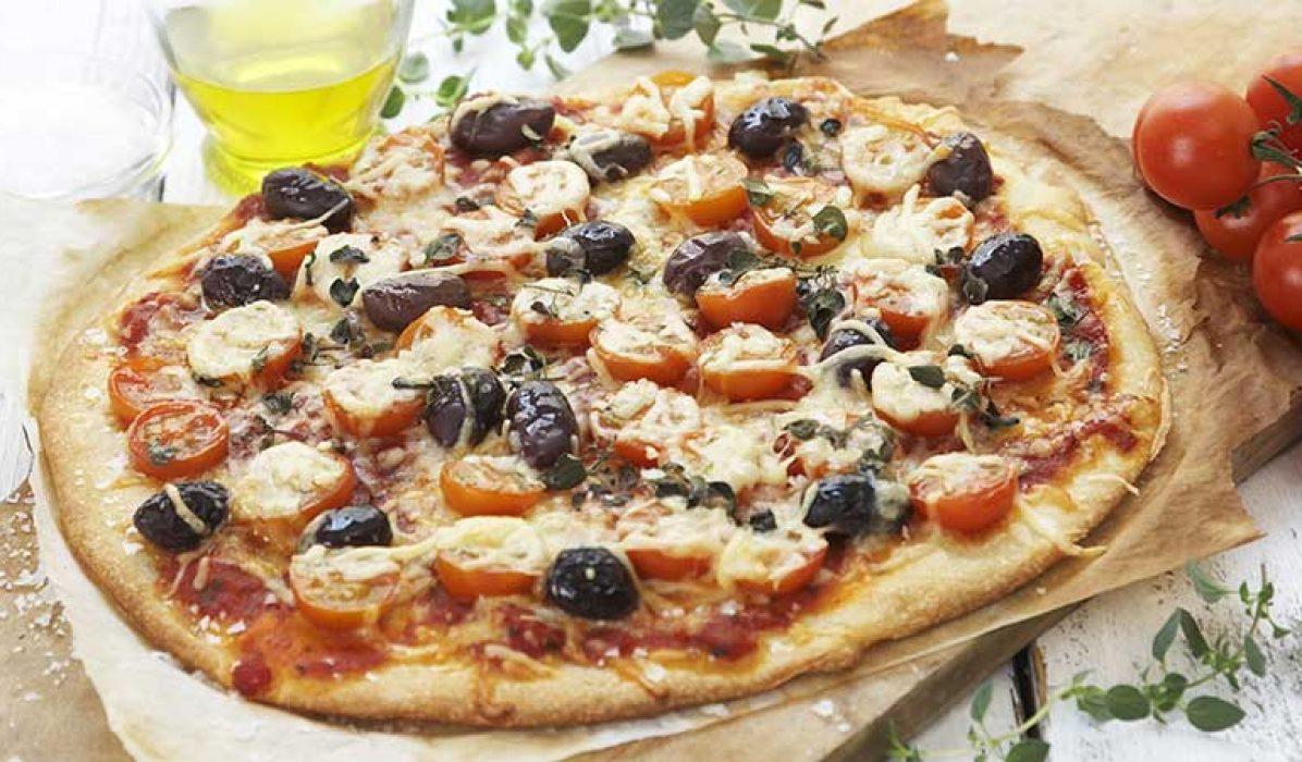 Enkel-tomatpizza