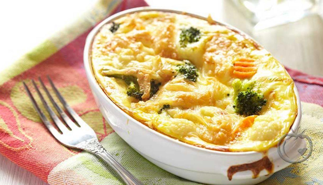 Gratinerte grønnsaker med ostesaus2