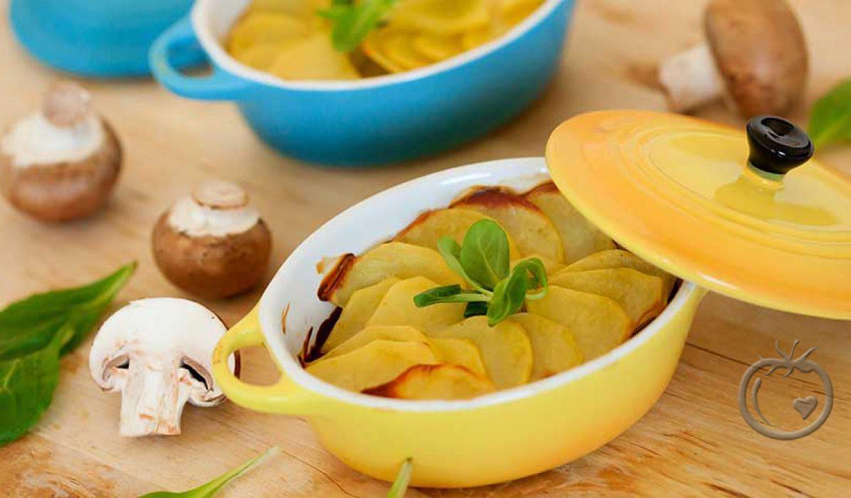 Gratinerte poteter med sopp