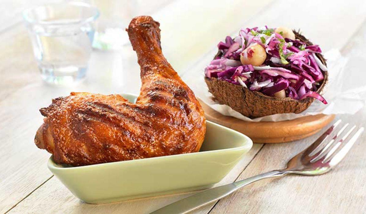 Grillet-kyllinglår-med-kålsalat-1