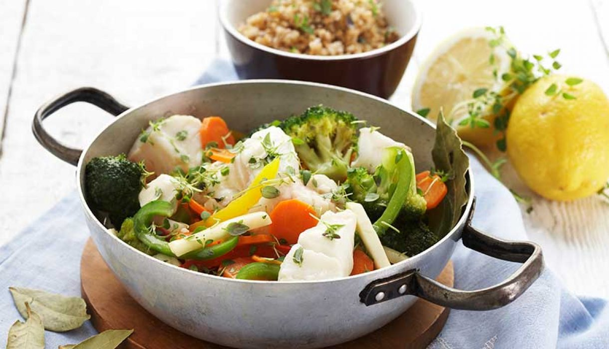 Gryte-med-torsk-og-grønnsaker