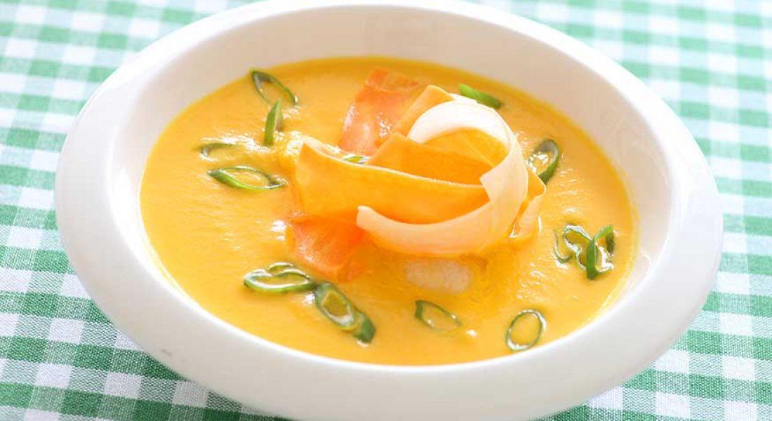Gulrot- og persillerotsuppe