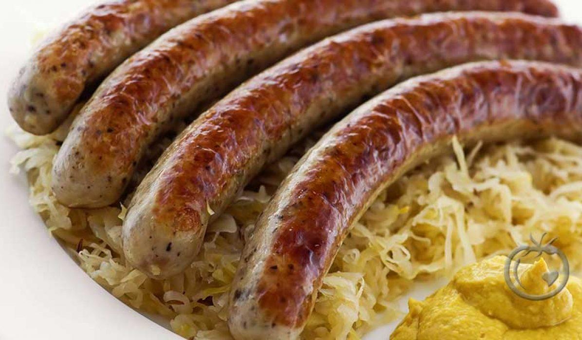 Hjemmelagde urøkt bratwurst