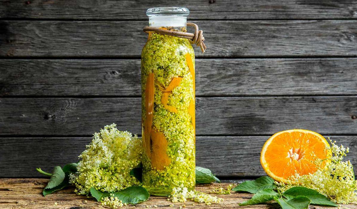 Hylleblomst og appelsindram