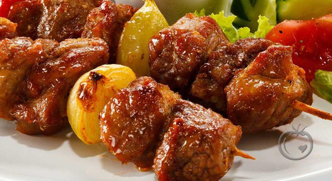 Kebab med småløk