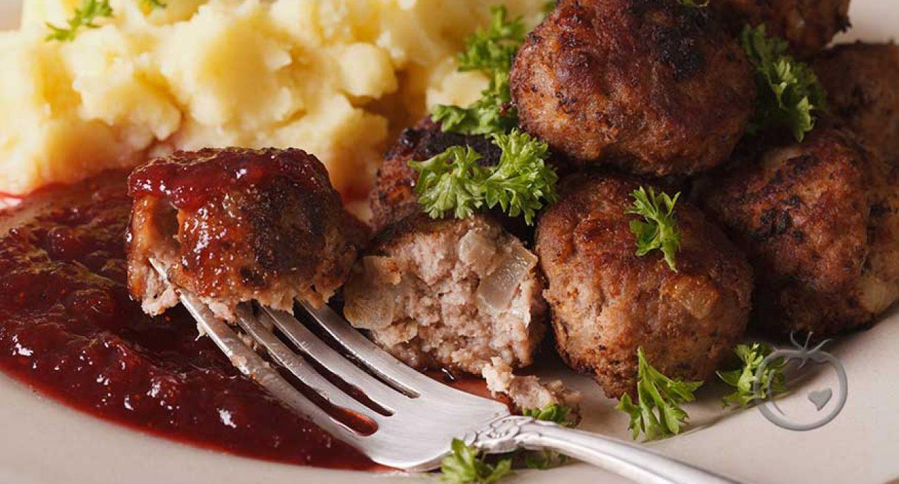 Kjøttboller stekt i ovn