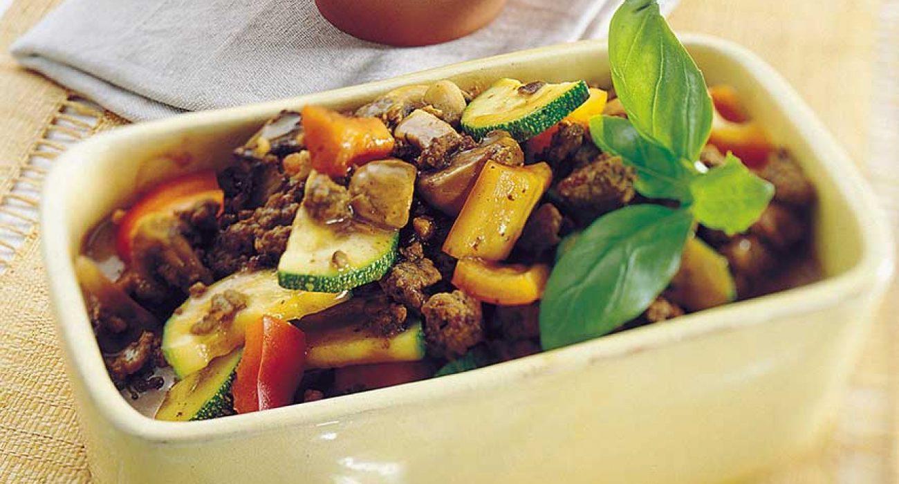 Kjøttdeiggryte med sopp og squash