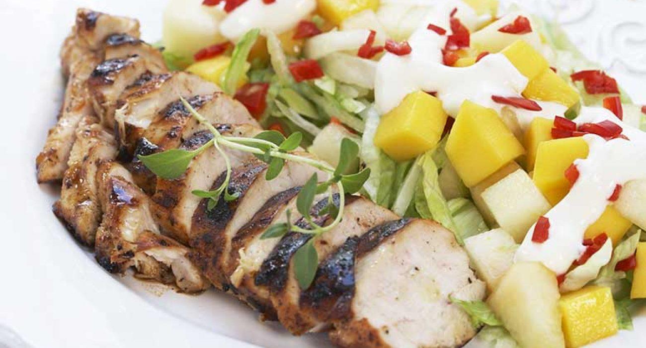 Kyllingfilet-med-melon-og-mangosalat-1