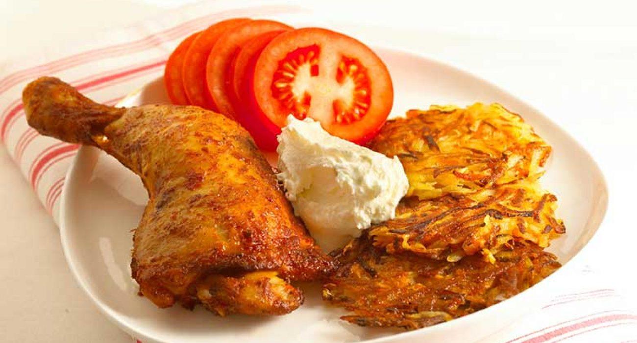 Kyllinglår-med-potet-og-gulrotrøsti-1