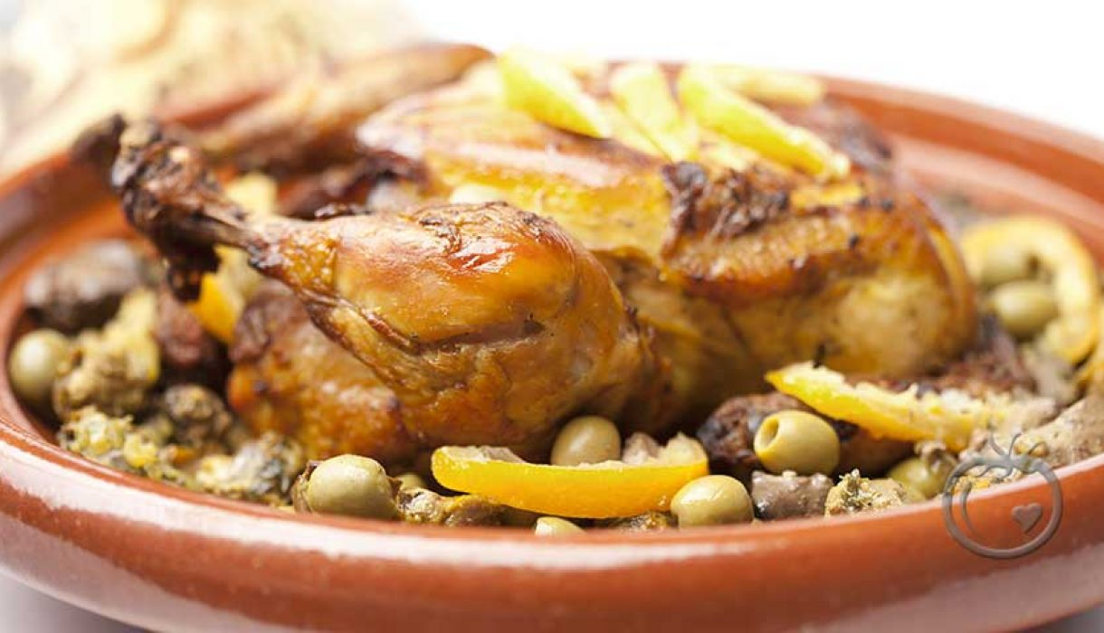 Kyllingtagine med oliven