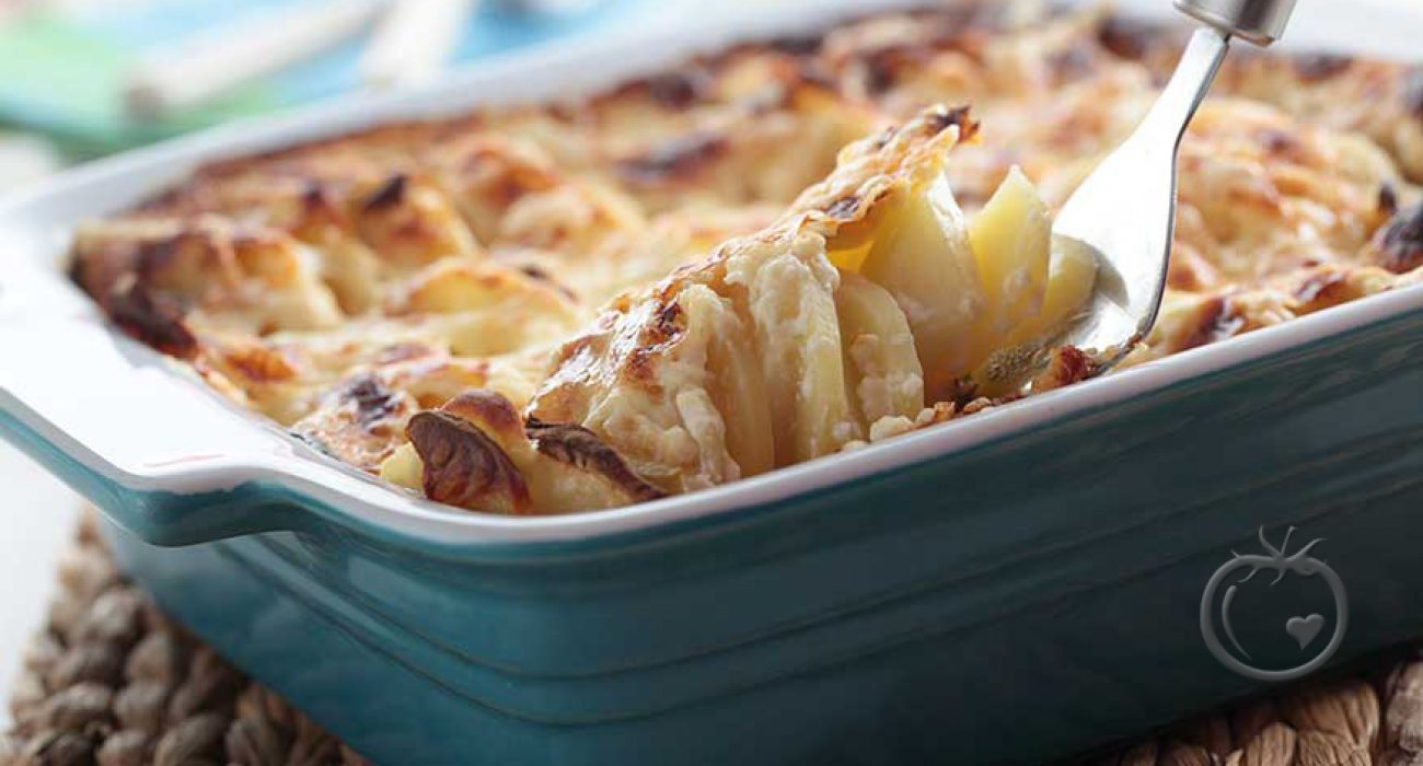 Løk- og potetgrateng