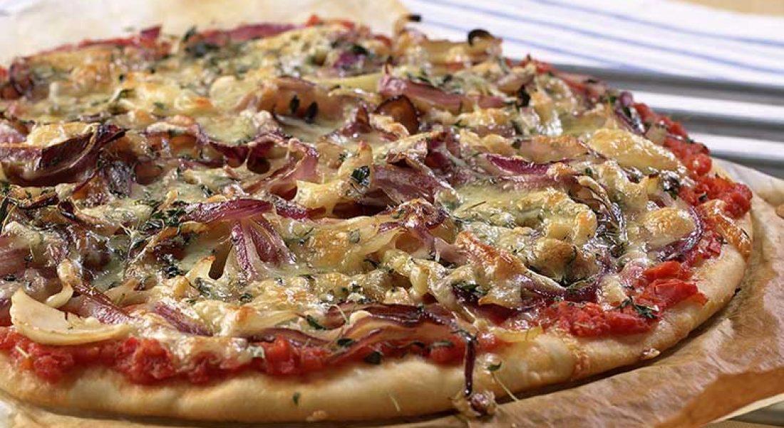 Løkpizza