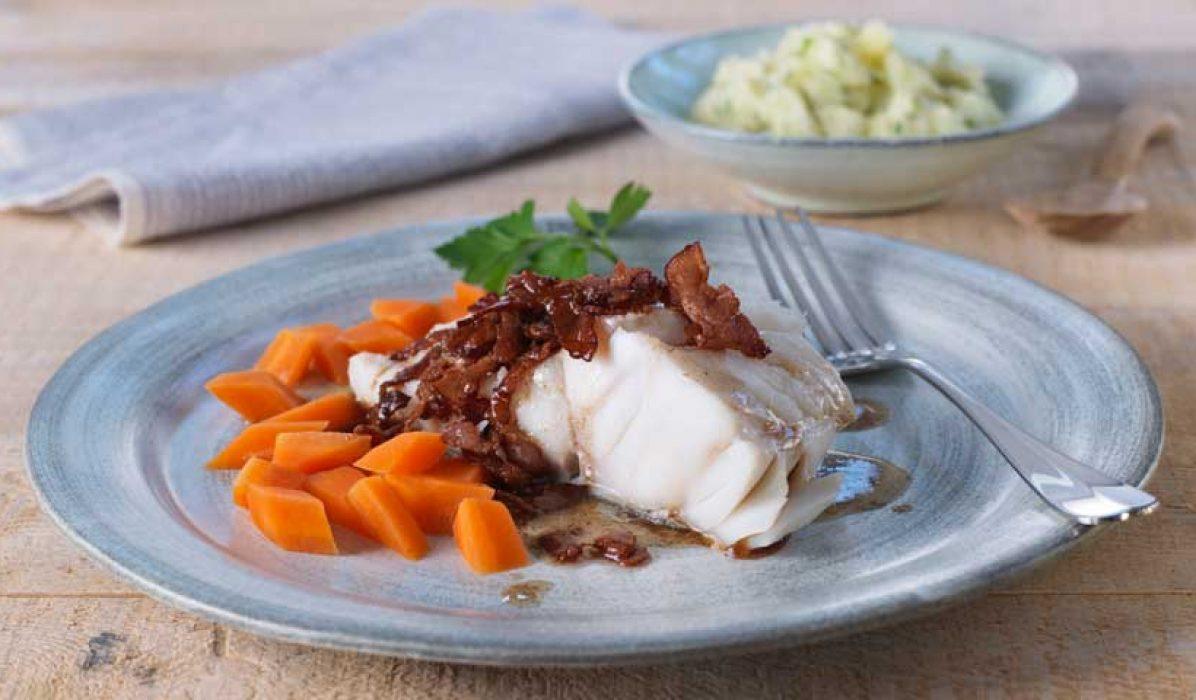 Lettsaltet torsk med bacon