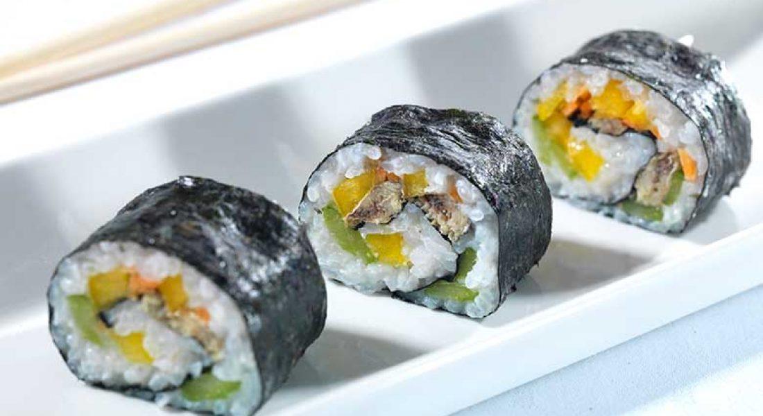 Maki sushi med sardiner