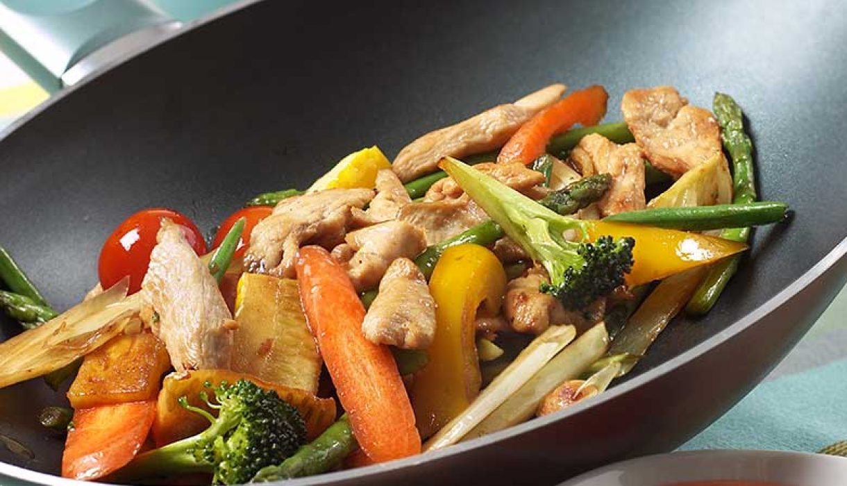 Marinert kylling i wok