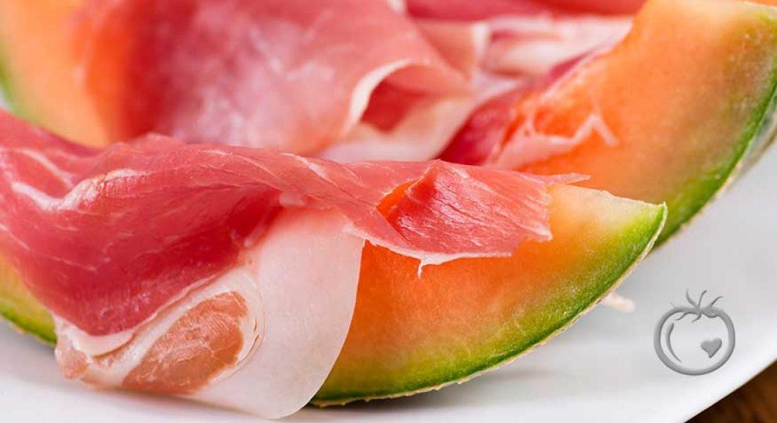 Melon med skinke