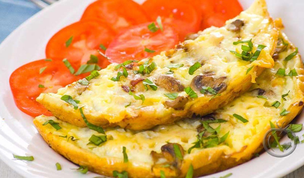 Omelett med sjampinjong