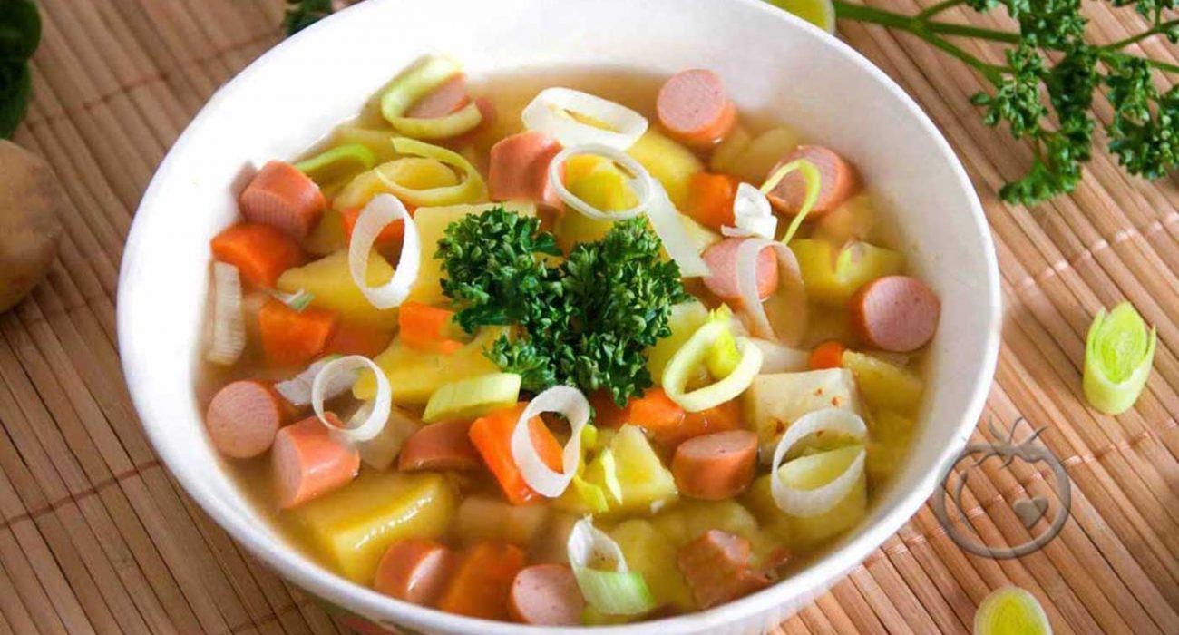 Pølsegryte med grønnsaker