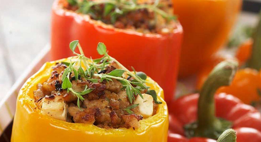 Paprika-fylt-med-kyllingkjottdeig