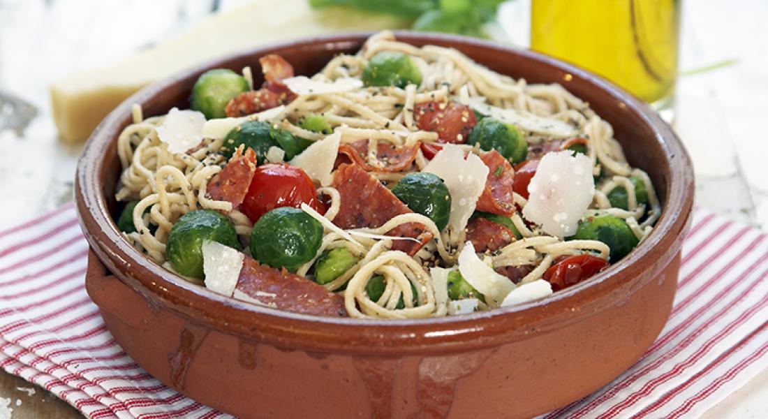 Pasta-med-rosenkål-og-chorizo-1