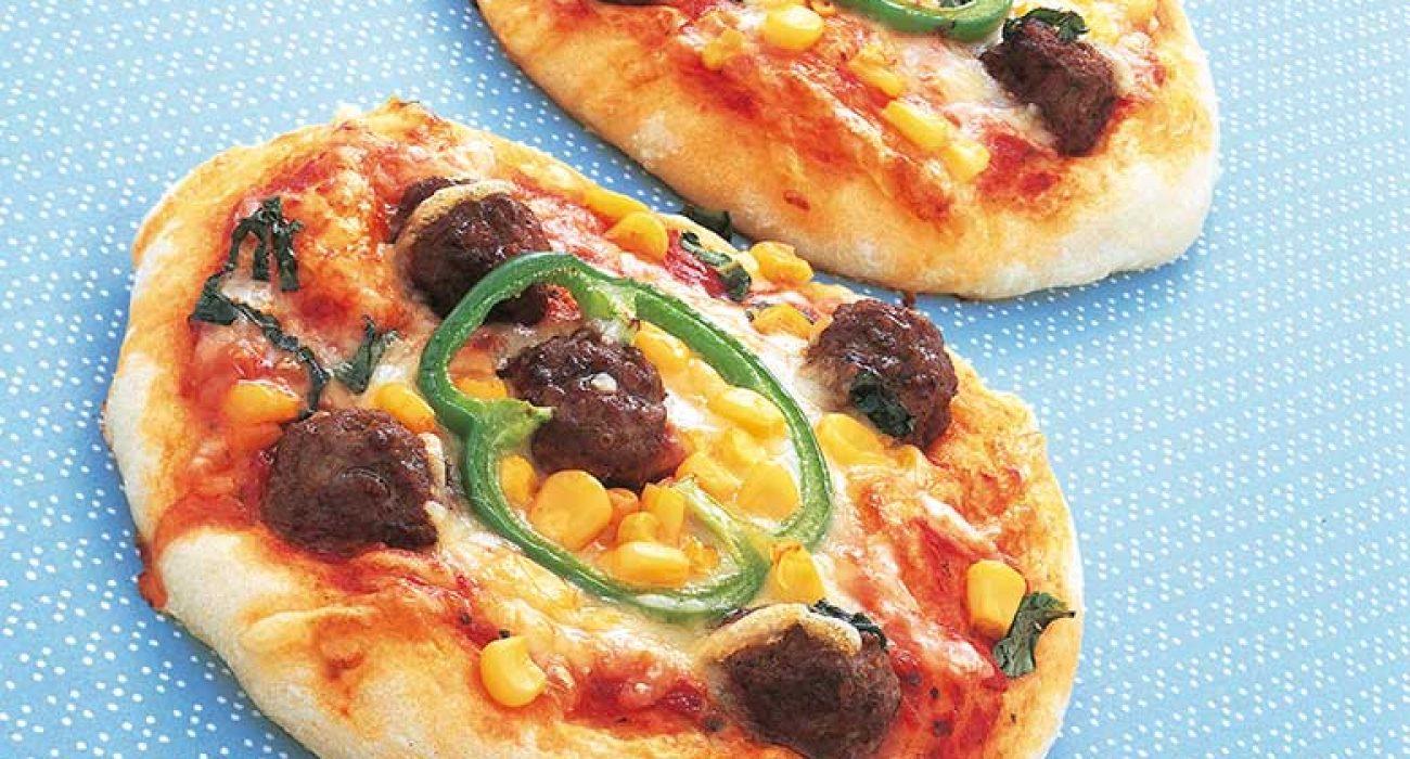 Pizza-med-kjottboller-1