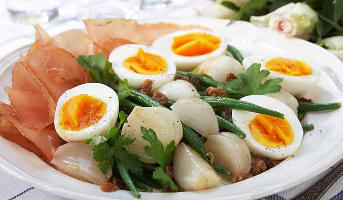 Provençalsk bønnesalat med egg