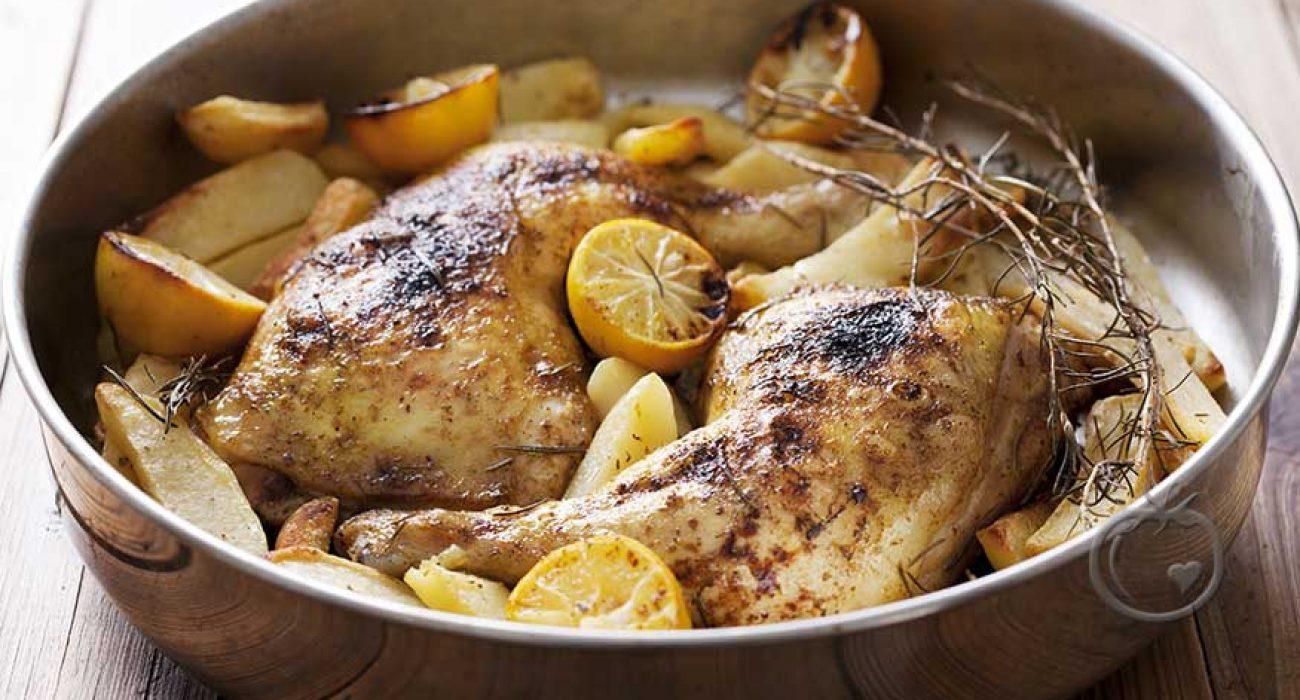 Rosmarin- og sitronbakte kyllinglår