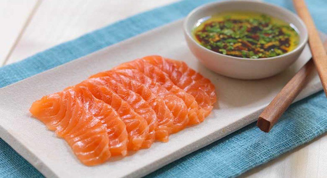 Sashimi med soyadressing