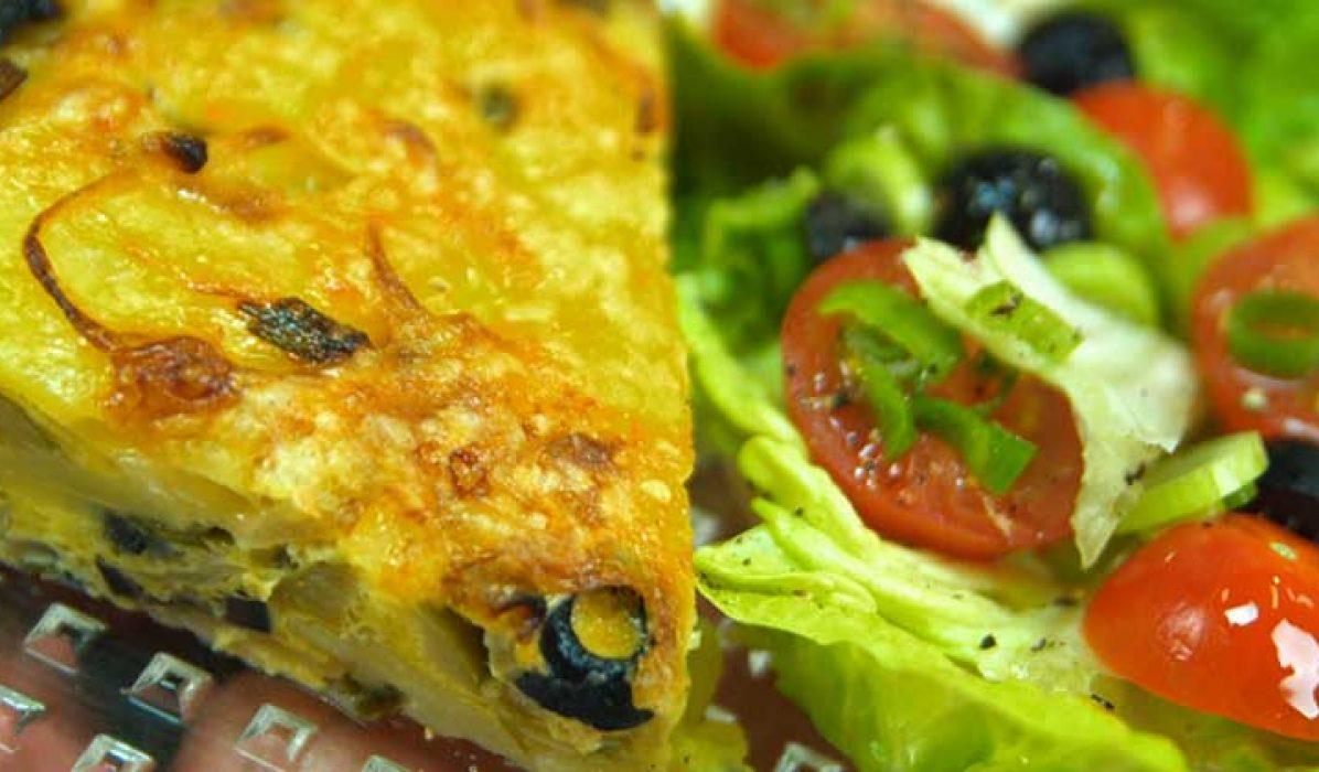 Spansk tortilla med oliven