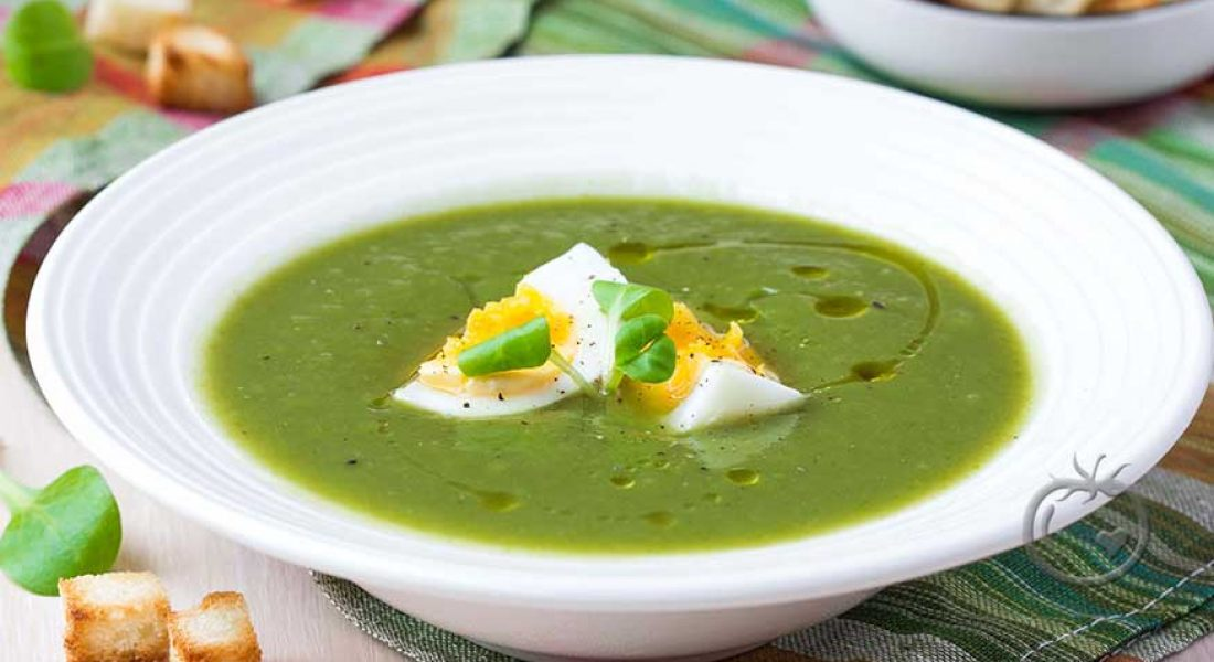 Spinatuppe med egg