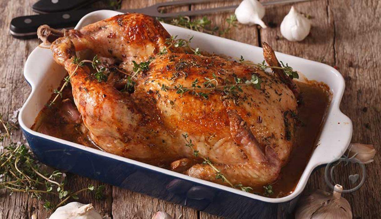 Stekt kylling med 40 hvitløksfedd