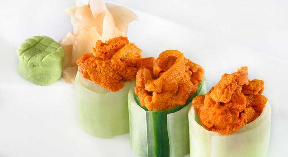 Sushi med kråkeboller