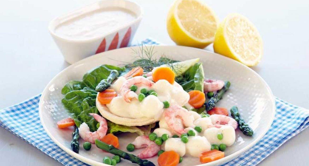 Terteskjell-med-fiskepudding-i-hvit-saus-