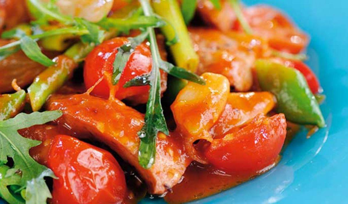 Tomat-og-pølsegryte-1