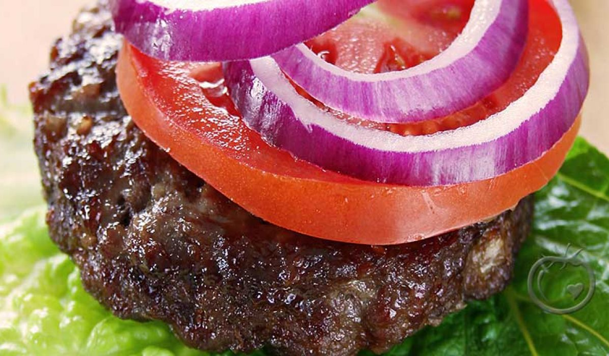 Hamburger med mye godt i