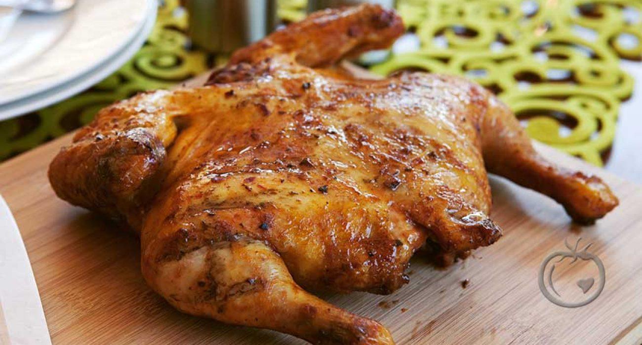 Utbrettet kylling med solsikkepesto