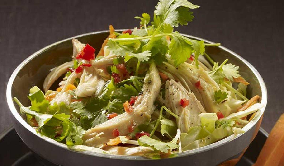 Vietnamesisk kylling- og kålsalat