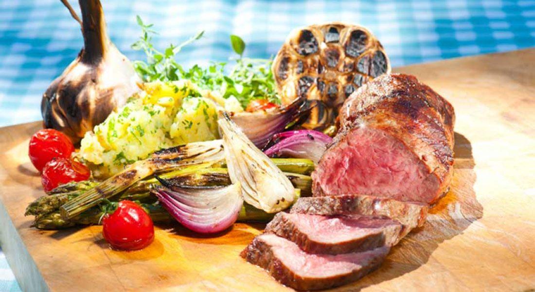 Ytrefilet av kalv med grillede grønnsaker