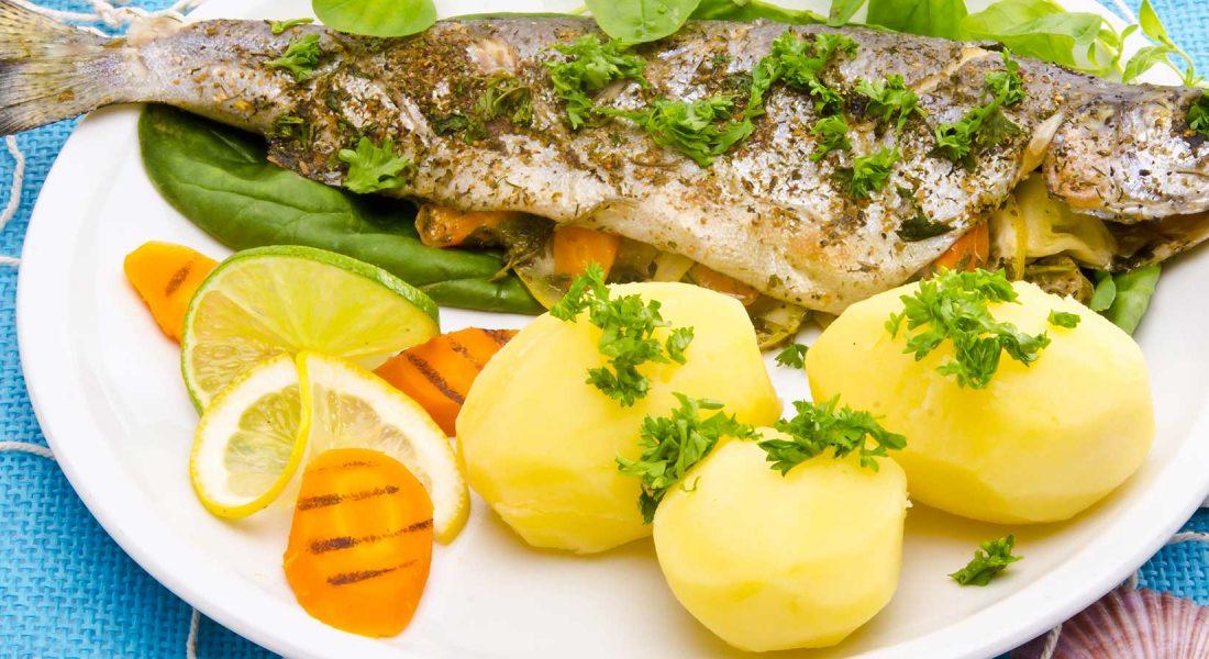Steketips for fisk og skalldyr